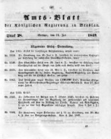 Amts-Blatt der Königlichen Regierung zu Breslau, 1849, Bd. 40, St. 28