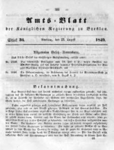 Amts-Blatt der Königlichen Regierung zu Breslau, 1849, Bd. 40, St. 34