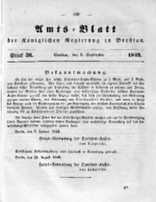 Amts-Blatt der Königlichen Regierung zu Breslau, 1849, Bd. 40, St. 36