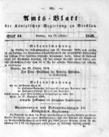 Amts-Blatt der Königlichen Regierung zu Breslau, 1849, Bd. 40, St. 44