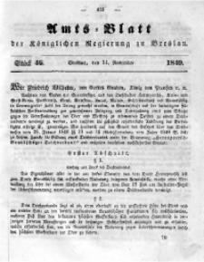 Amts-Blatt der Königlichen Regierung zu Breslau, 1849, Bd. 40, St. 46