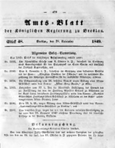 Amts-Blatt der Königlichen Regierung zu Breslau, 1849, Bd. 40, St. 48
