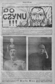 Do Czynu!!! 1929, R. 2, nr 17