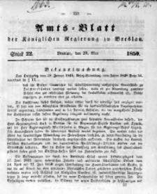 Amts-Blatt der Königlichen Regierung zu Breslau, 1850, Bd. 41, St. 22