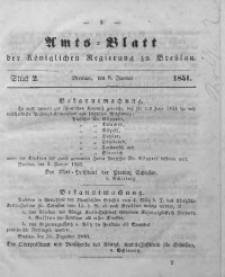 Amts-Blatt der Königlichen Regierung zu Breslau, 1851, Bd. 42, St. 2
