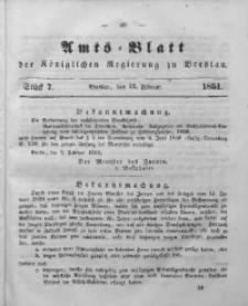 Amts-Blatt der Königlichen Regierung zu Breslau, 1851, Bd. 42, St. 7