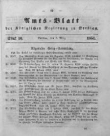 Amts-Blatt der Königlichen Regierung zu Breslau, 1851, Bd. 42, St. 10