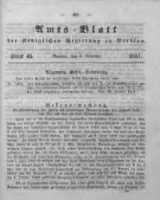 Amts-Blatt der Königlichen Regierung zu Breslau, 1851, Bd. 42, St. 45