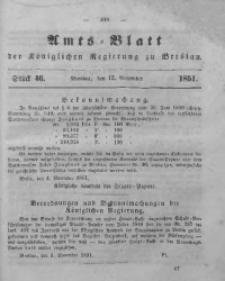 Amts-Blatt der Königlichen Regierung zu Breslau, 1851, Bd. 42, St. 46