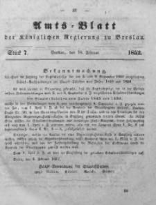 Amts-Blatt der Königlichen Regierung zu Breslau, 1852, Bd. 43, St. 7