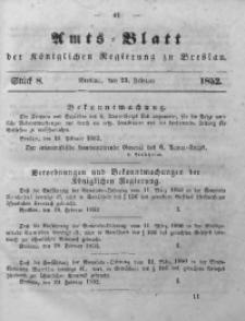 Amts-Blatt der Königlichen Regierung zu Breslau, 1852, Bd. 43, St. 8