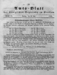 Amts-Blatt der Königlichen Regierung zu Breslau, 1852, Bd. 43, St. 20
