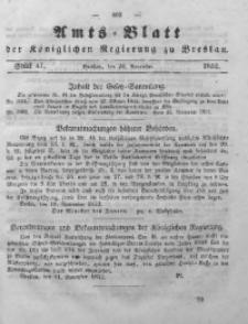 Amts-Blatt der Königlichen Regierung zu Breslau, 1852, Bd. 43, St. 47
