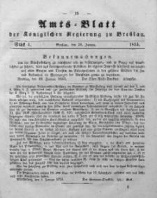 Amts-Blatt der Königlichen Regierung zu Breslau, 1853, Bd. 44, St. 4