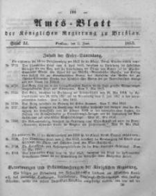 Amts-Blatt der Königlichen Regierung zu Breslau, 1853, Bd. 44, St. 22