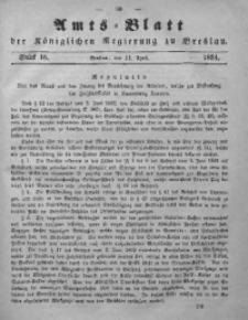 Amts-Blatt der Königlichen Regierung zu Breslau, 1854, Bd. 45, St. 16