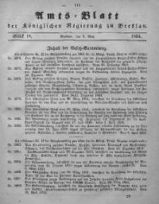 Amts-Blatt der Königlichen Regierung zu Breslau, 1854, Bd. 45, St. 18