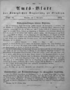 Amts-Blatt der Königlichen Regierung zu Breslau, 1854, Bd. 45, St. 44
