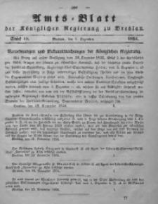 Amts-Blatt der Königlichen Regierung zu Breslau, 1854, Bd. 45, St. 48