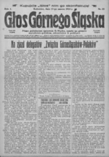 Głos Górnego Śląska, 1923, R. 3, nr 22
