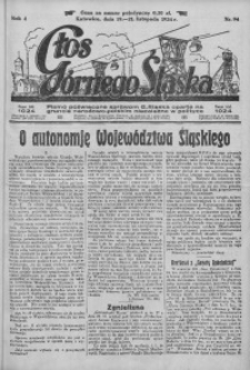 Głos Górnego Śląska, 1924, R. 4, nr 94