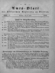 Amts-Blatt der Königlichen Regierung zu Breslau, 1855, Bd. 46, St. 14