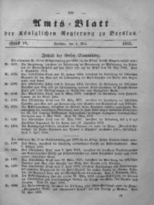 Amts-Blatt der Königlichen Regierung zu Breslau, 1855, Bd. 46, St. 18