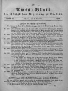 Amts-Blatt der Königlichen Regierung zu Breslau, 1855, Bd. 46, St. 45
