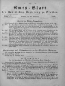 Amts-Blatt der Königlichen Regierung zu Breslau, 1855, Bd. 46, St. 47