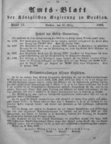 Amts-Blatt der Königlichen Regierung zu Breslau, 1856, Bd. 47, St. 13