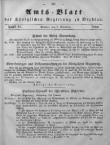 Amts-Blatt der Königlichen Regierung zu Breslau, 1856, Bd. 47, St. 45
