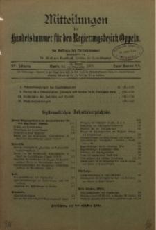 Mitteilungen der Handelskammer für den Regierungsbezirk Oppeln, 1909, Jg. 15, Nr. 8/9