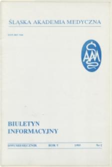 Biuletyn Informacyjny. Śląska Akademia Medyczna, 1995, R. 5, nr 2