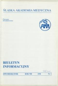 Biuletyn Informacyjny. Śląska Akademia Medyczna, 1998, R. 8, nr 6