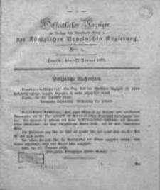Oeffentlicher Anzeiger als Beilage des Amts-Blatt der Königlichen Oppelschen Regierung. 1833