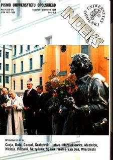 Indeks : pismo Uniwersytetu Opolskiego. 2004, nr 5-6 (53-54)