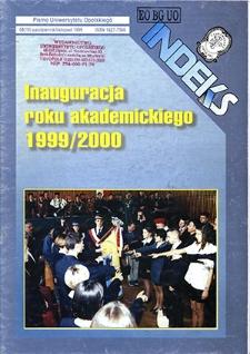 Indeks : pismo Uniwersytetu Opolskiego. 1999, nr 8 (16)