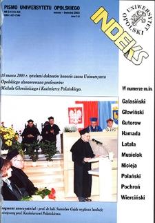 Indeks : pismo Uniwersytetu Opolskiego. 2003, nr 3-4 (41-42)