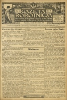 Gazeta Robotnicza, 1911, R. 21, nr 45
