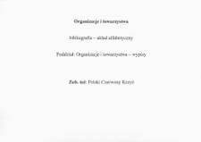 Kartoteka rzeczowa na temat lecznictwa na Górnym Śląsku - Organizacje i towarzystwa