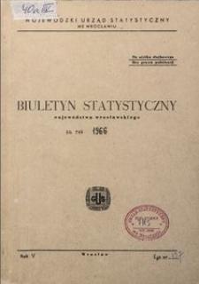 Biuletyn statystyczny województwa wrocławskiego za rok 1966