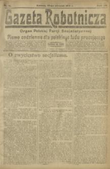 Gazeta Robotnicza, 1921, R. 26, nr 11