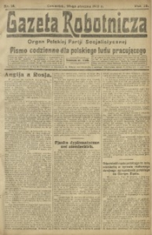 Gazeta Robotnicza, 1921, R. 26, nr 15
