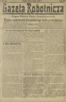 Gazeta Robotnicza, 1921, R. 26, nr 43
