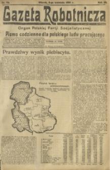Gazeta Robotnicza, 1921, R. 26, nr 76