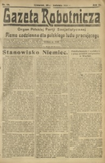 Gazeta Robotnicza, 1921, R. 26, nr 96