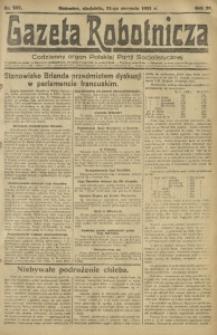 Gazeta Robotnicza, 1921, R. 26, nr 187