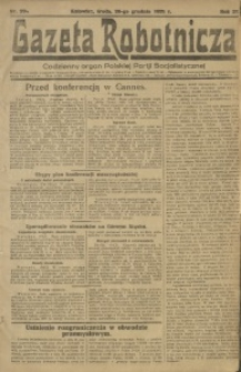 Gazeta Robotnicza, 1921, R. 26, nr 294