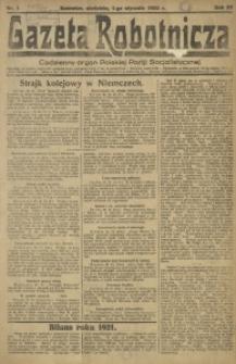 Gazeta Robotnicza, 1922, R. 27, nr 1