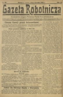 Gazeta Robotnicza, 1922, R. 27, nr 23